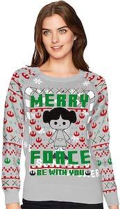 Princess Leia Merry Force Christmas Sweater