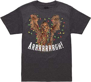 Chewbacca Christmas Lights Fight T-Shirt