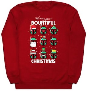 Boba Fett Bountiful Christmas Sweater