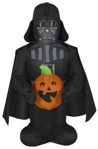 Darth Vader Holding Pumpkin Halloween inflatable