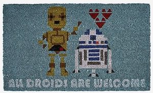 C-3PO And R2-D2 Doormat