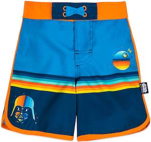 Darth Vader And Death Star Boy's Swim Trunks