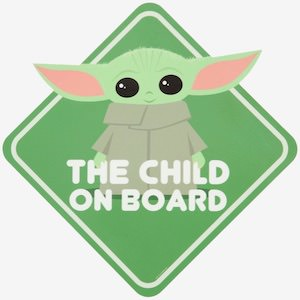 Yoda The Child On Board Decal
