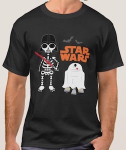 Darth Vader And R2-D2 Halloween T-Shirt
