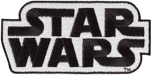 Black And White Star Wars Logo Patch