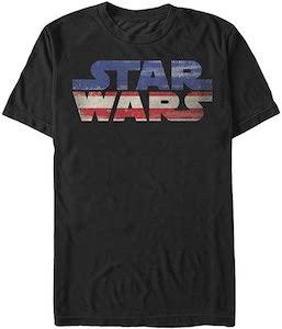 US Flag Star Wars Logo T-Shirt
