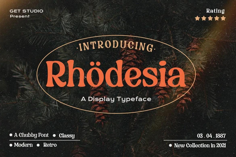 Rhodesia – Retro Serif Font