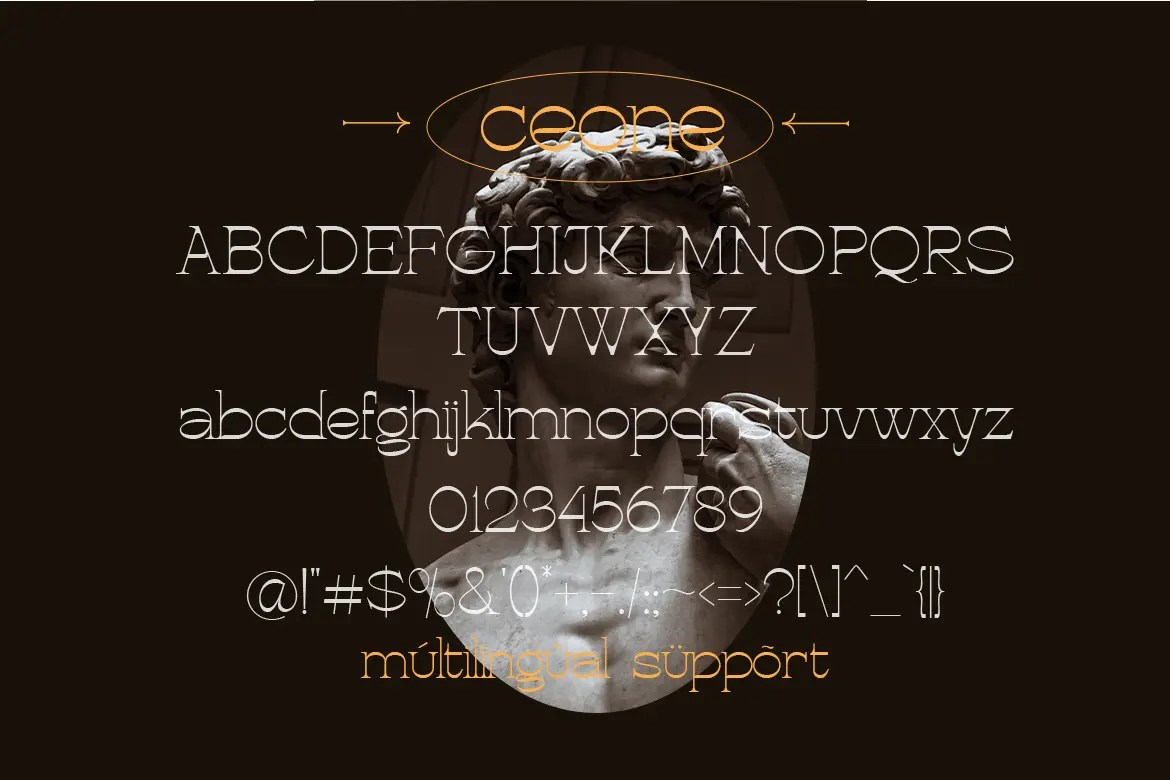 Ceone – Modern Display Font