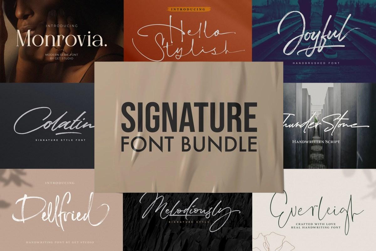 Signature Font Bundle