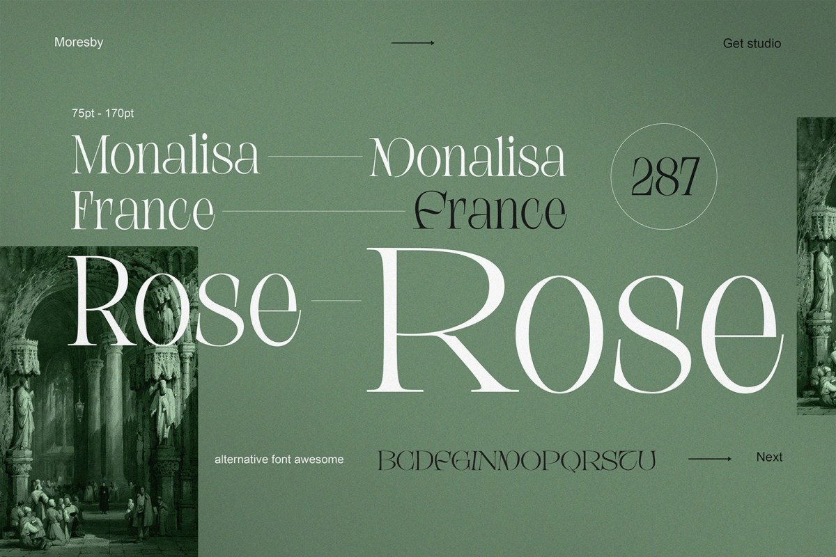 Moresby – Aesthetic Serif Typeface