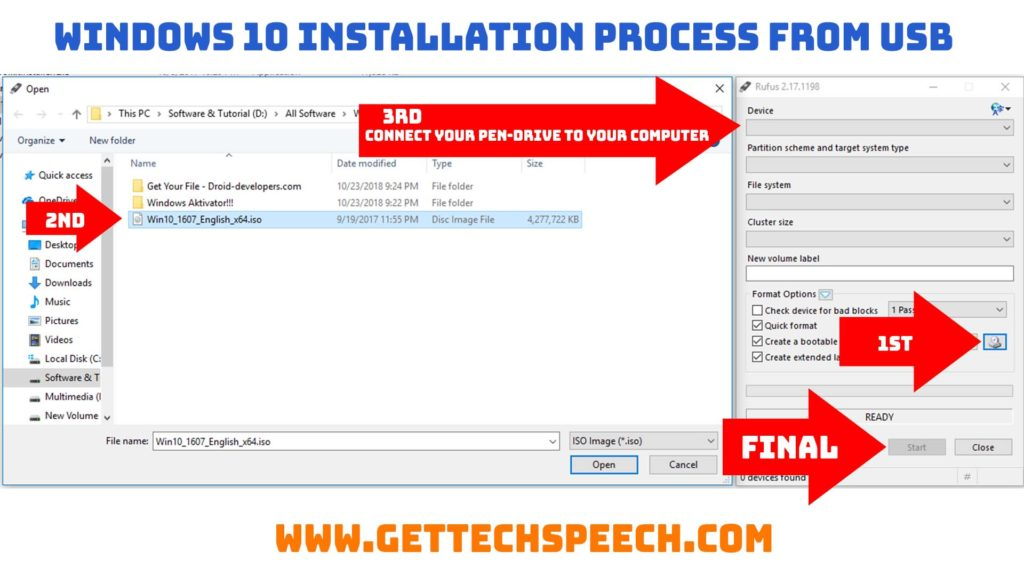 Windows 10 Installation Process From USB