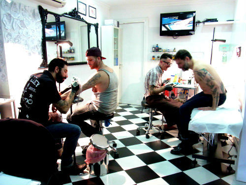 A Busy Day at Rome Tattoo Shop