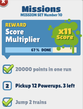Missions Subway Surfers