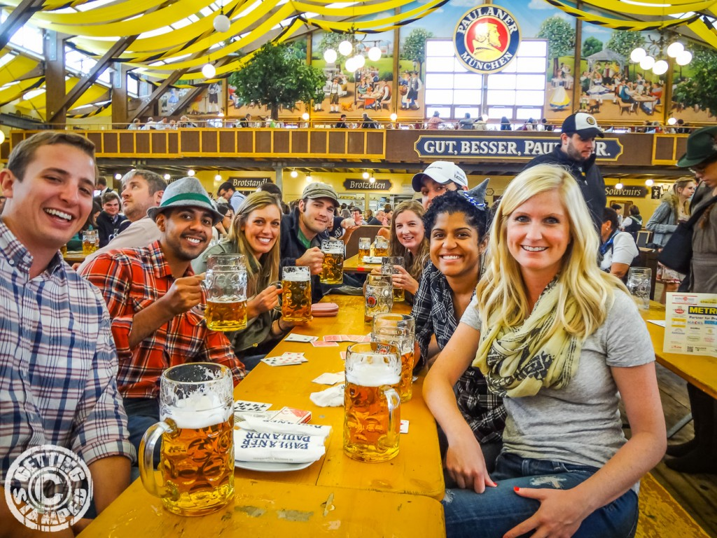 Tips for a Successful Oktoberfest in Munich   Getting Stamped Make friends at your table Oktoberfest Munich   tips myths 27