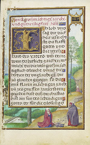 Border with Elijah Raising the Son of the Widow of Sareptha
