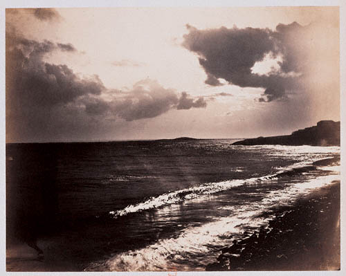 Large Wave, Mediterranean Sea, created by Gustave Le Gray in 1857 captured the brightness of the sky and the detail in the ocean in a way not seen before.