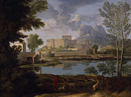Landscape with a Calm / Poussin