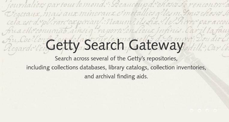 New search tool - Getty Search Gateway