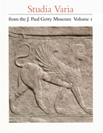 Studia Varia from the J. Paul Getty Museum: Volume 1  (OPA 8)