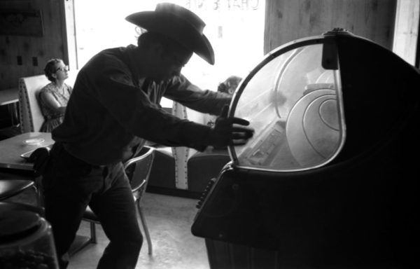 """James Dean During The Filming of """"Giant"""" 