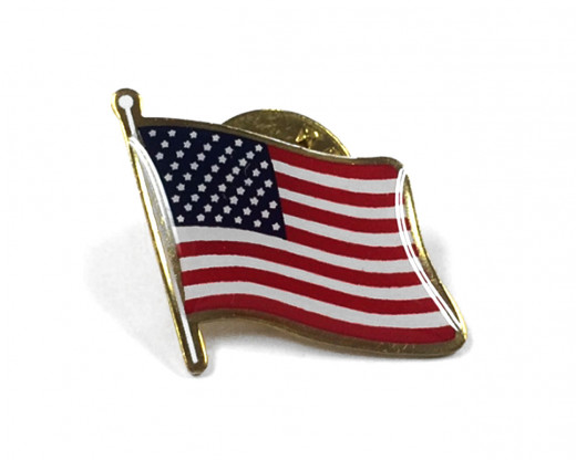 American Flag Lapel Pin Shirt