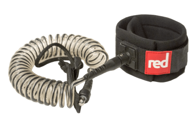 Red paddle Coiled Leash