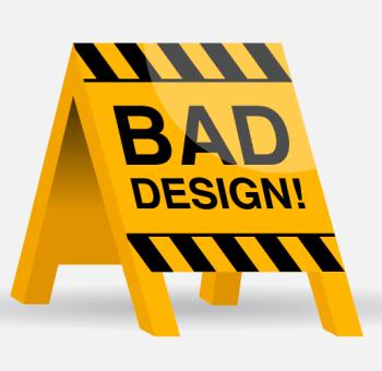 bad web design