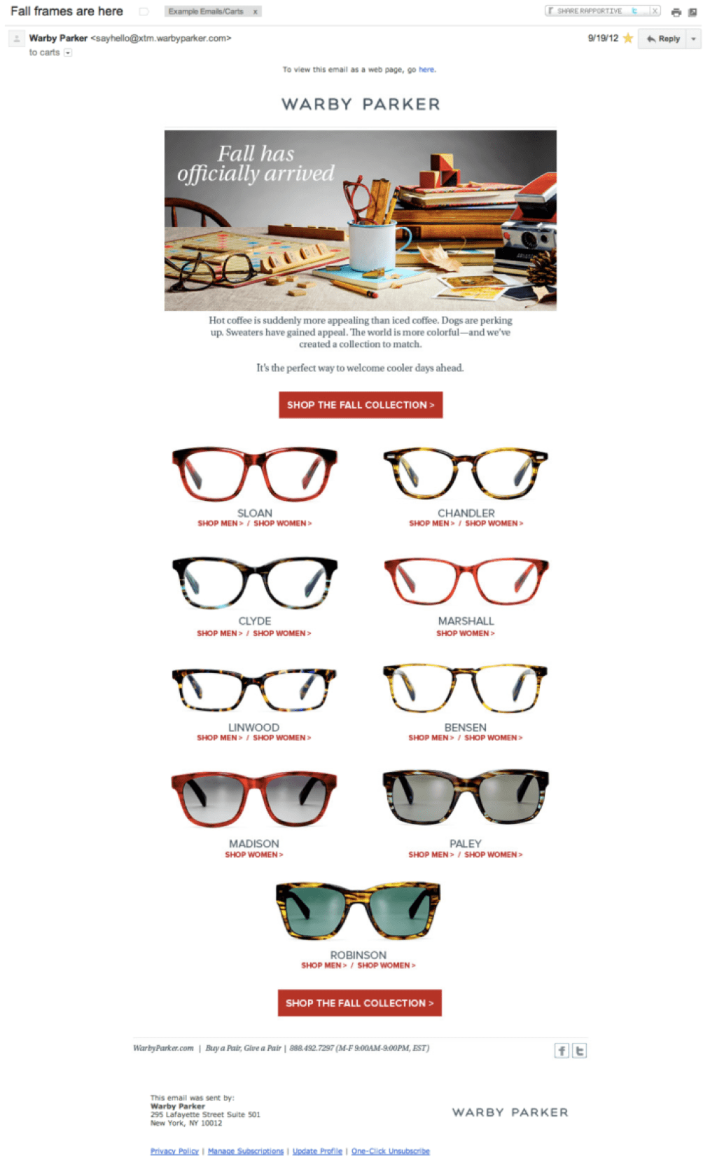Warby Parker Email Marketing