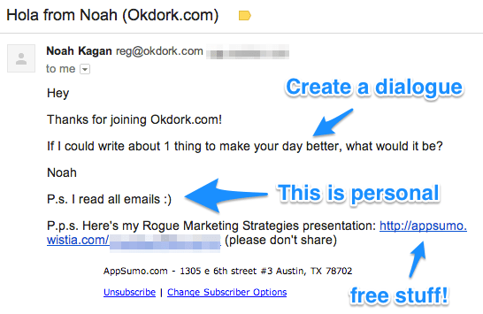 OKDork Welcome Email