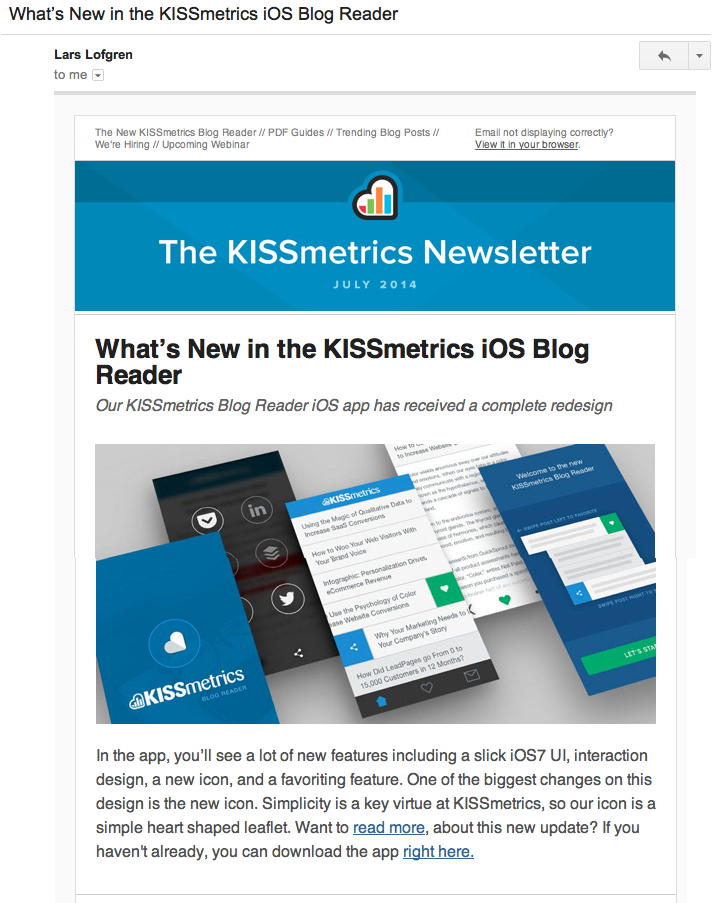 kissmetrics1 email best practices