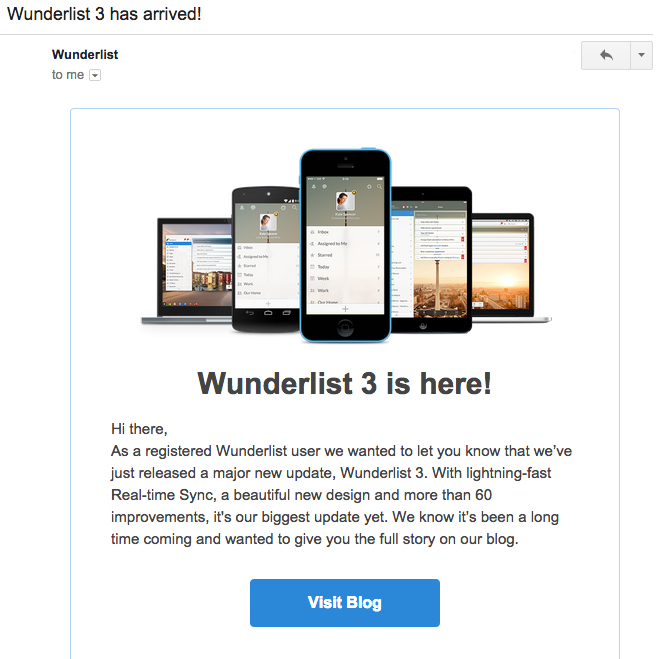 wunderlist email best practices
