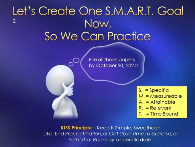 Creative Visualization + Smart Goals overcoming procrastination