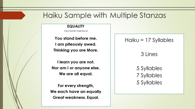 Haiku Sample w Multiple Verses