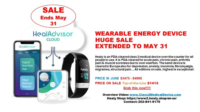 Healy Resonance sale ends May 2021
