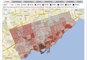 Toronto Neighbourhood Crime Map