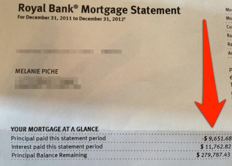 mortgage statement