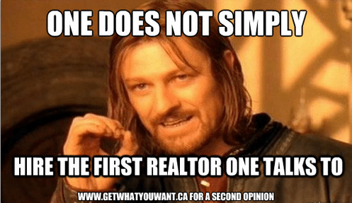 don't hire the first realtor