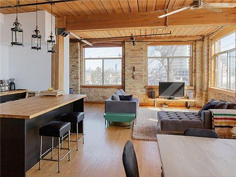 Noble Street Loft for Sale Toronto Living room