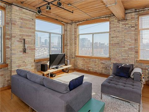 Noble Street Toronto Loft for Sale Living room