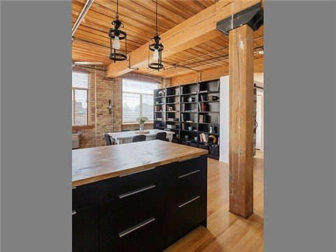 Toronto Noble Street Loft for Sale Island Kitchen