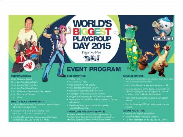 Event Program Templates  Word Excel Pdf Formats