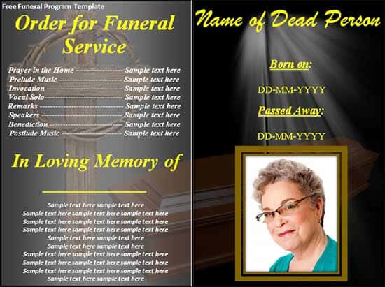 Funeral Program Image 7  Free Download Funeral Program Template