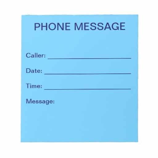 Telephone message image 6