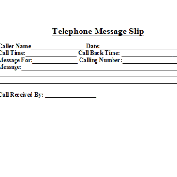 Telephone message format Archives - Word Templates