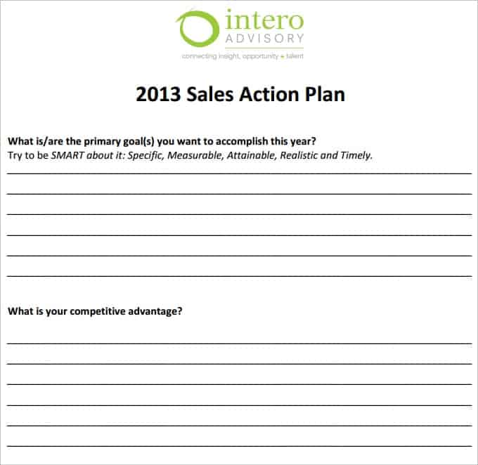 Action Plan Templates  Word Excel Pdf Formats