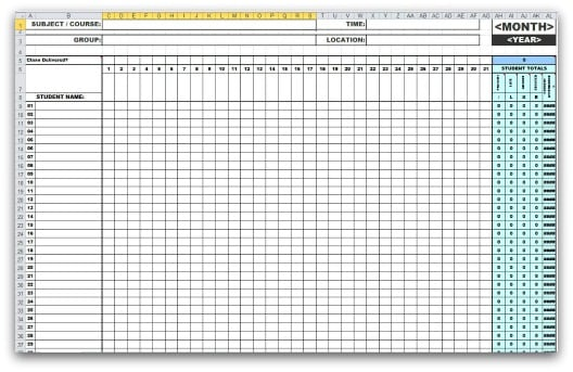 Attendance Sheet Templates  Word Excel Pdf Formats