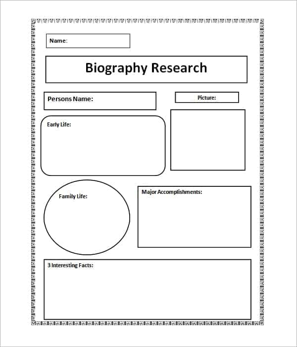 10 Biography templates Word Excel PDF Formats – Sample Biography Timeline