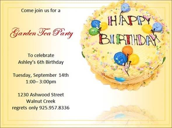 birthday party invitation 6
