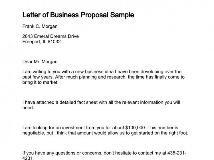 How To Write Business Proposal Sample Romeondinez