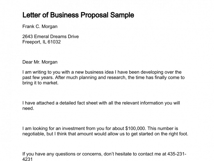 business proposal letter 3